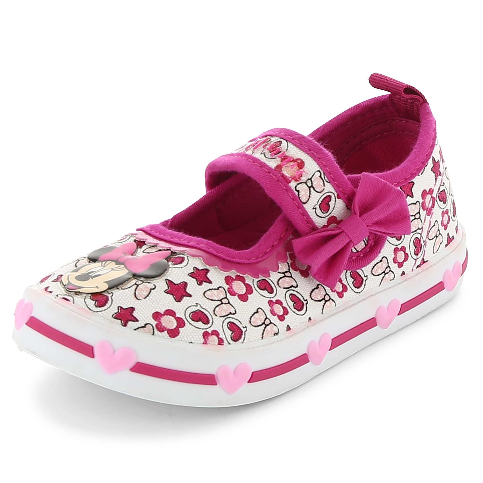 Couleur : blanc/rose, jean, ,, - Taille : 30, 22, 27,21,23Des baskets 'Minnie Mouse' pour les fans du rose ! - Baskets en toile 'Minnie Mouse'