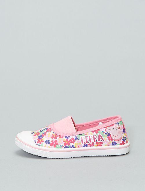 Baskets en toile 'Peppa Pig'                             blanc/rose Chaussures