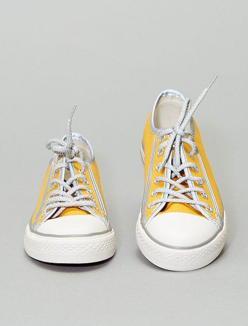 Baskets en toile réfléchissantes                                         jaune