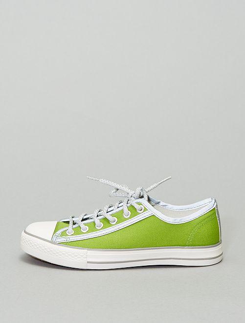 Baskets en toile réfléchissantes                                         vert