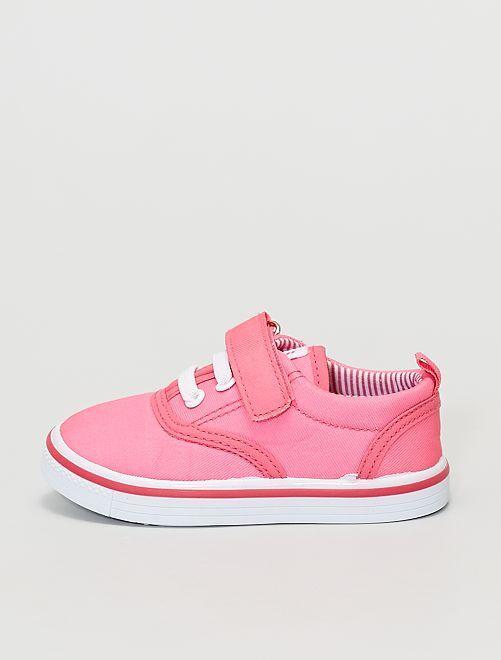 Baskets en toile                             rose