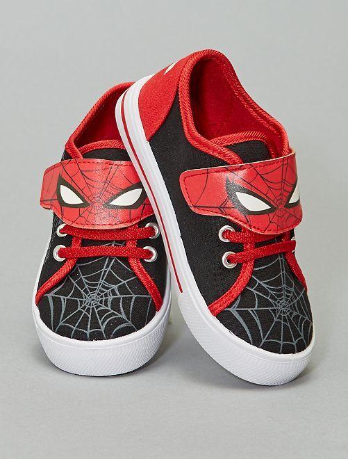 Baskets en toile 'Spiderman'                             rouge