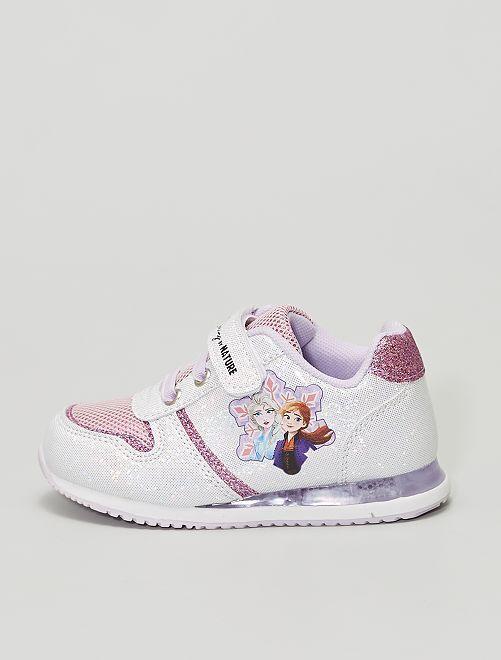 Baskets 'La reine des neiges' 'Disney' lumineuses                             blanc rose