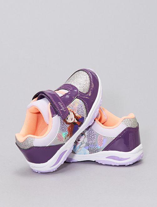 Baskets lumineuses 'La Reine des nieges'                             violet