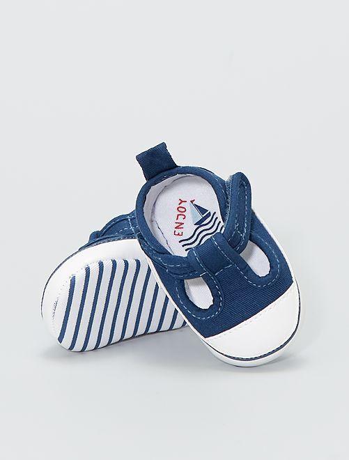 Baskets mi-ouvertes                                         bleu