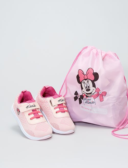Baskets 'Minnie' + sac assorti                             rose