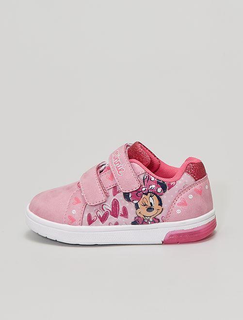 Baskets 'Minnie' semelles lumineuses                             rose
