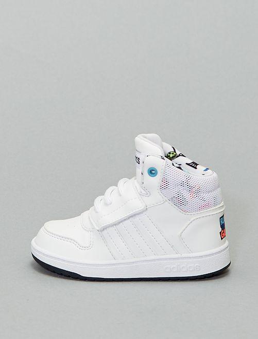 Baskets montantes à scratch 'adidas Hoops'                             blanc