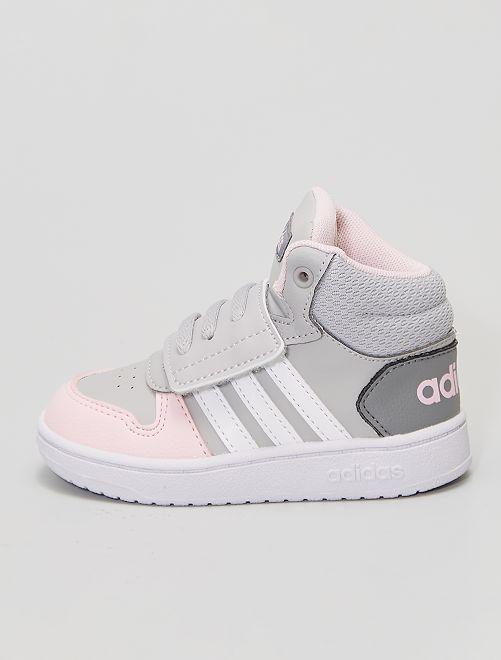 Baskets montantes 'adidas'                             gris/rose
