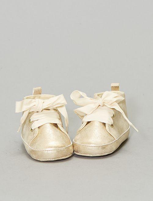 Baskets montantes                             beige Bébé fille