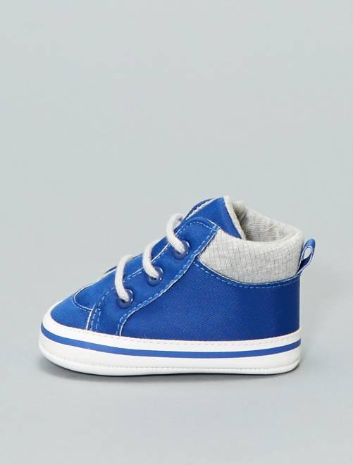 Baskets montantes bicolores                             bleu