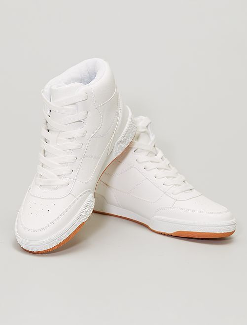 Baskets montantes                             blanc