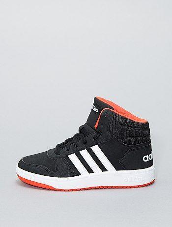 d6f5bbf61aaaa Baskets montantes en simili  Adidas HOOPS 2 0 K  - Kiabi