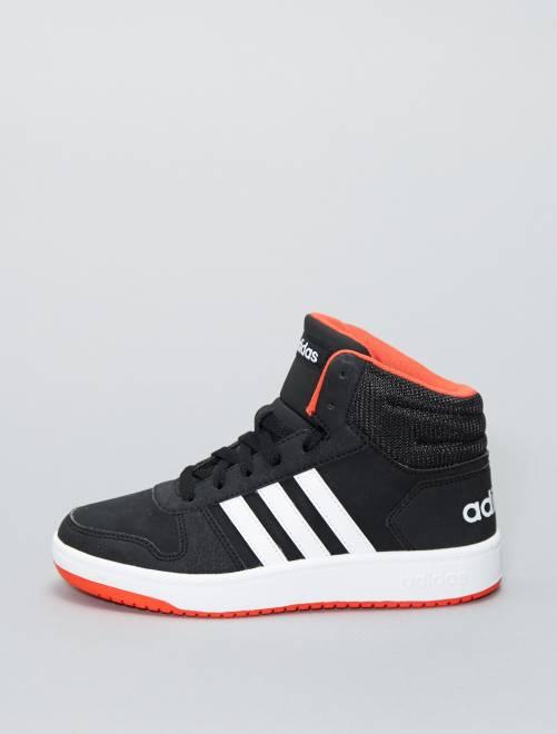 Baskets montantes en simili 'Adidas HOOPS 2 0 K'                             noir Garçon