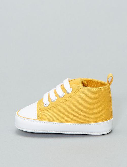 Baskets montantes en toile                                                                                                                                                                                                                                                      jaune Bébé garçon