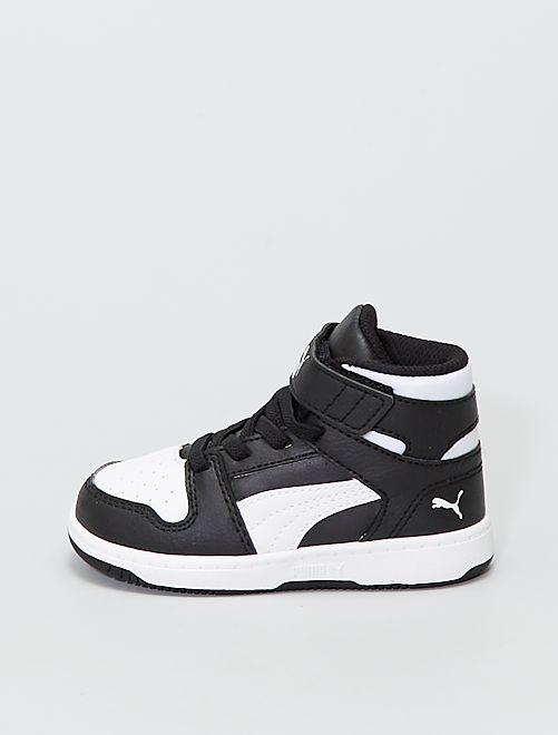 Baskets montantes 'Puma'                             blanc/noir