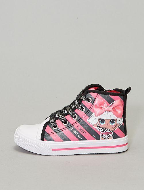 Baskets montantes toile et simili 'LOL Surprise'                             rose Chaussures