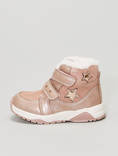 Baskets montantes type boots                             rose