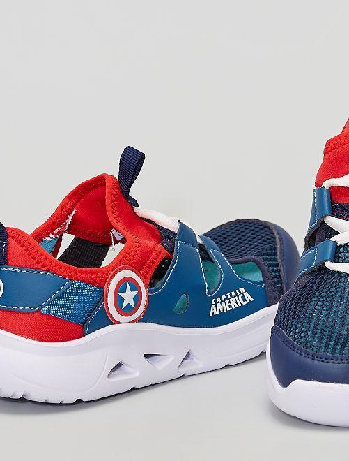 Baskets ouvertes 'Avengers'                             bleu