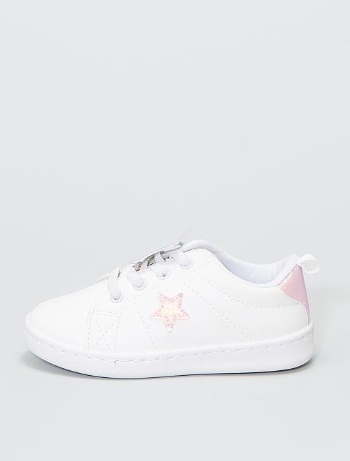 Baskets patchs étoiles                             blanc