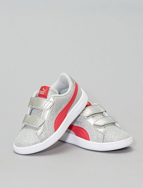 Baskets 'Puma' 'Smash Glitz'                             gris/rose