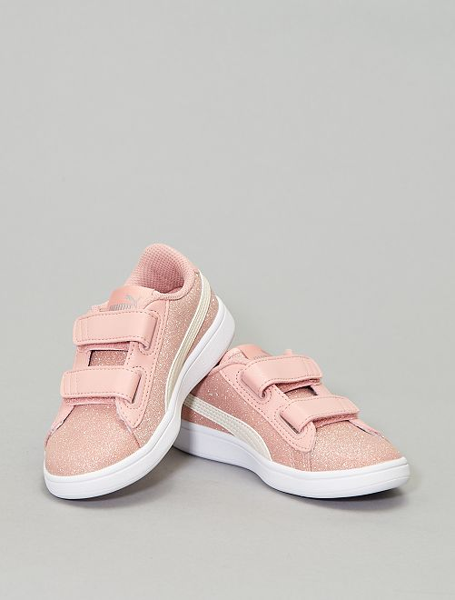 Baskets 'Puma' 'Smash Glitz'                                         rose/blanc Chaussures