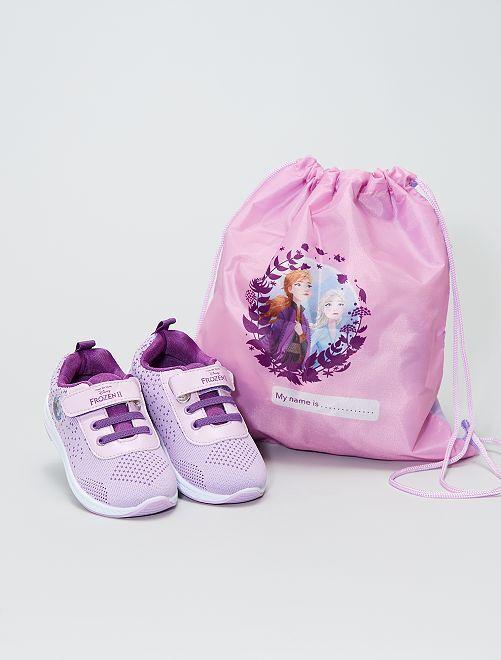 Baskets + sac la 'Reine des Neiges'                             mauve