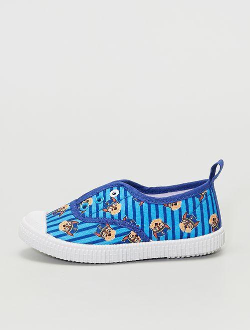Baskets sans lacets en toile 'Pat 'Patrouille'                             bleu
