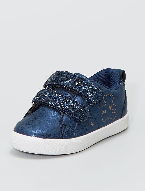 Baskets scratchs à paillettes 'Lulu Castagnette'                             bleu