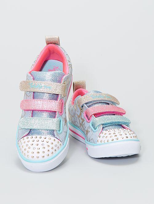 Baskets 'Skechers' 'Twinkle Toes'                             bleu/rose