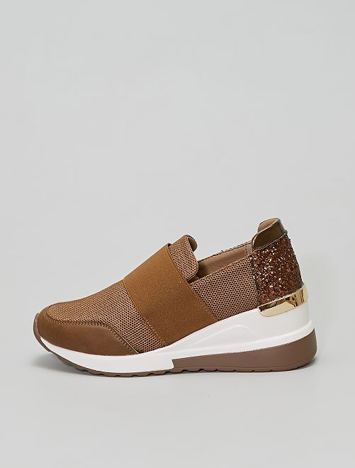 Baskets slip-on                             kaki