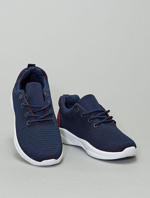Baskets sport en maille                             bleu navy