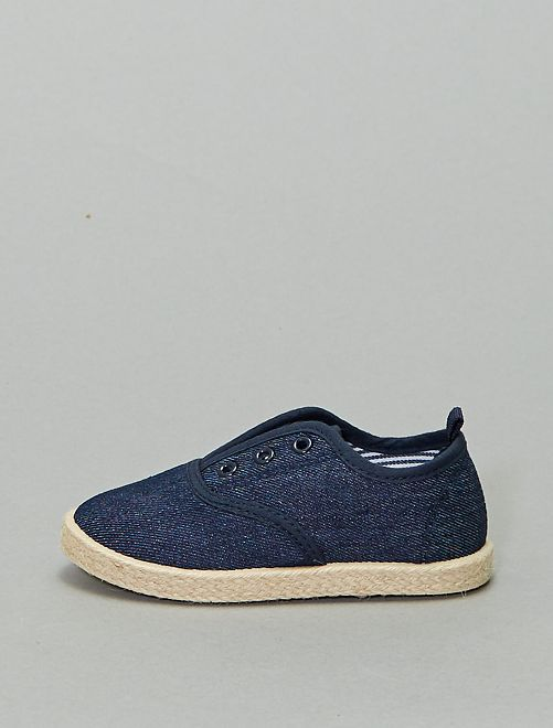 Baskets style espadrille                             bleu denim