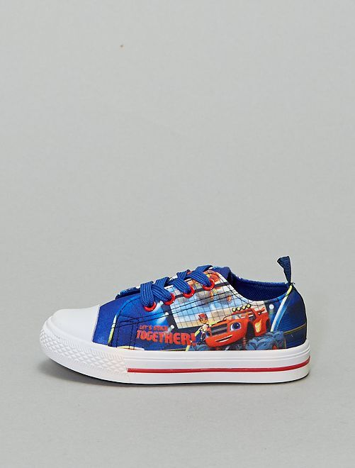 Baskets textile 'Blaze and the Monster Machines'                             bleu
