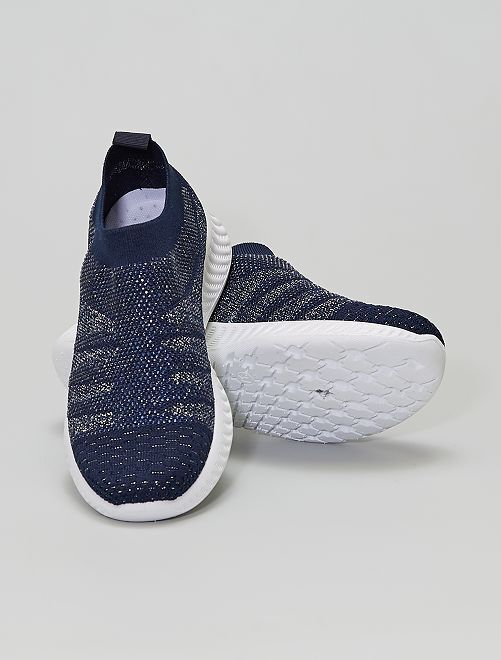 Baskets type chaussons                             bleu navy