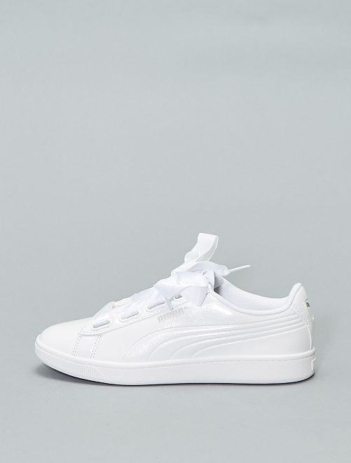 Baskets vernies 'Puma' 'Vikky'                                         blanc Chaussures