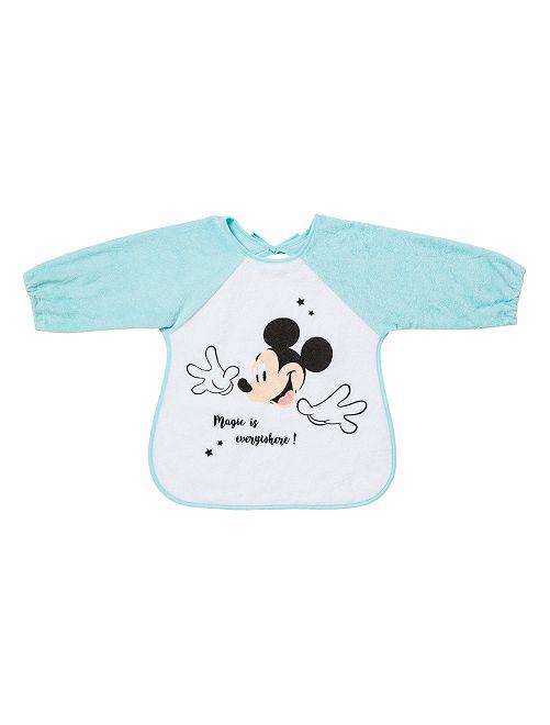 Bavoir à manches 'Mickey Mouse'                                                     bleu clair/Mickey