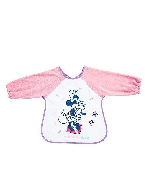 Bavoir à manches 'Minnie Mouse'                             rose Bébé fille