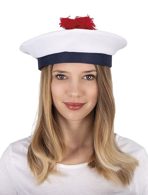 Béret de marin                             blanc