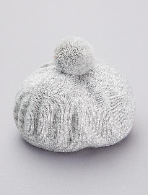 Béret tricot                                         gris