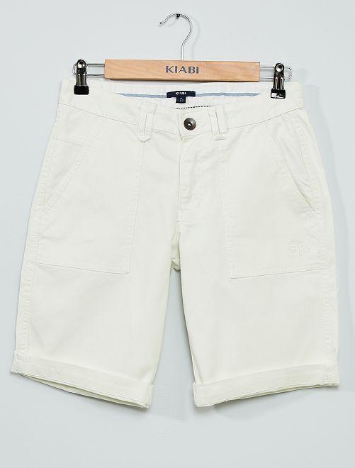 Bermuda 5 poches                             blanc