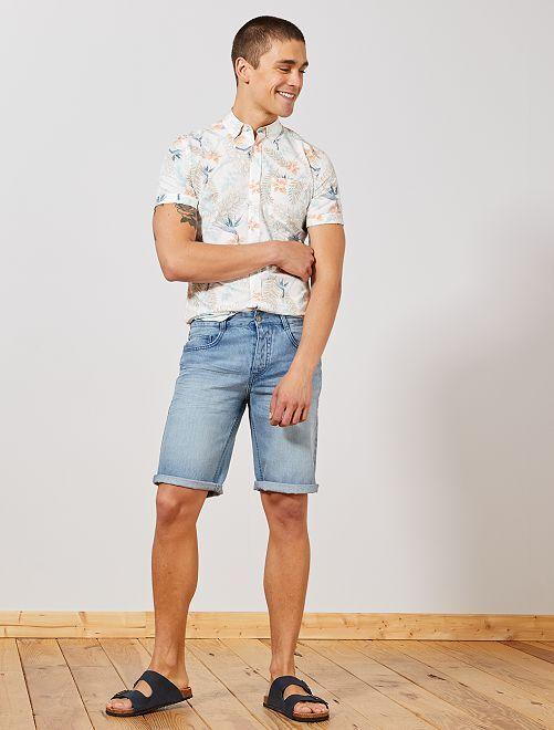 Bermuda 5 poches en denim                                                                                         bleach Homme