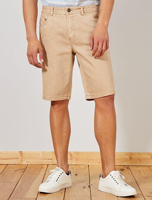 Bermuda 5 poches en twill                                                                 beige