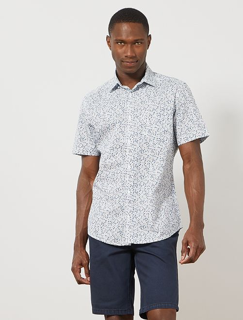 Bermuda 5 poches en twill                                                                 bleu marine Homme