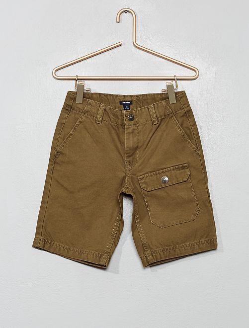 Bermuda à poches                             marron