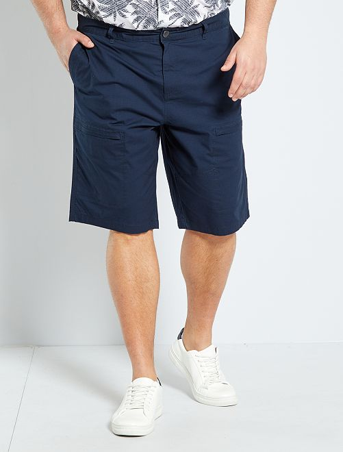 bermuda à poches zippées                                         bleu marine
