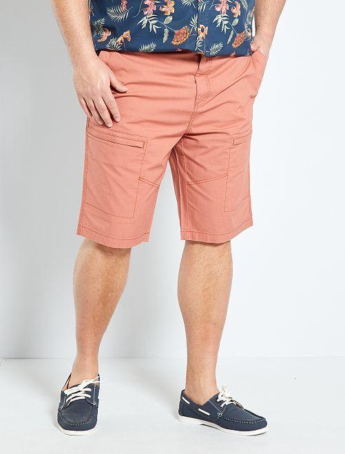 bermuda à poches zippées                             rouge brique clair