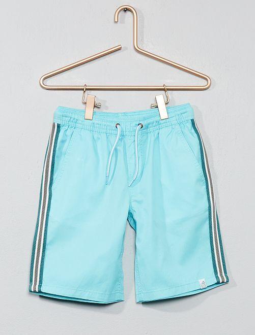 Bermuda bandes latérales                                                                                         turquoise Garçon