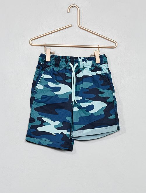 Bermuda 'camouflage'                                         bleu Garçon