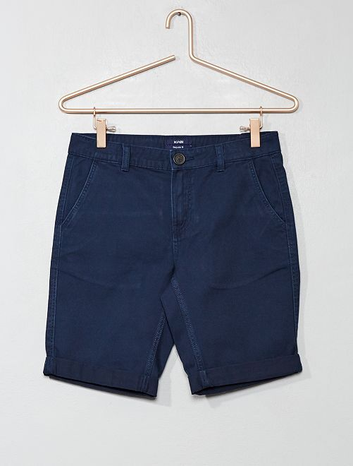 Bermuda chino                                                                 bleu marine Garçon adolescent